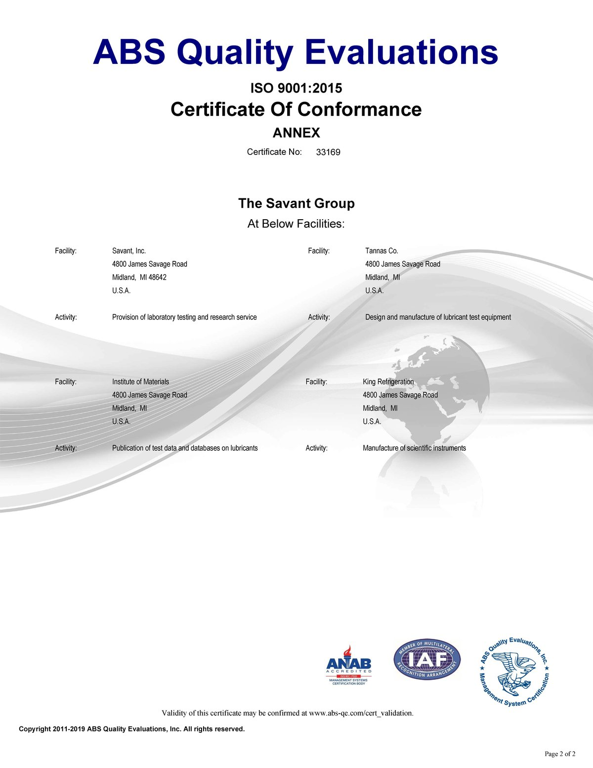 Certificate Page 2